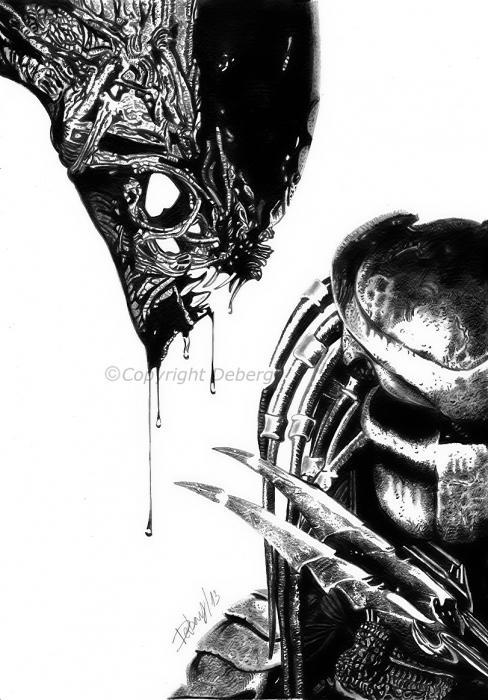 Predator, Alien por Deberg